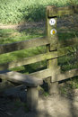 Public footpath wooden style. Royalty Free Stock Image