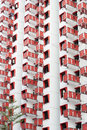 Public housing apartments red and white exterior of in singapore Stock Image