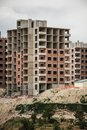Public housing constructions made in the suburbs of a city Stock Photos