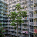 Public housing hong kong sai wan estate one of the oldest estate in Royalty Free Stock Photography