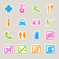 Public icons set illustration eps Stock Photos