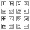 Public information icons set Royalty Free Stock Photo