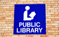 Public library symbol. Royalty Free Stock Photo