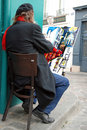 Public painter on Montmartre hill in Paris Royalty Free Stock Images