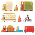 Public And Personal Transport Toy Cars And Trucks Collection Of Childish Colorful Transportation Vehicles