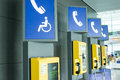 Public phone in the airport Royalty Free Stock Images
