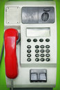 Public phone close up of Stock Photography