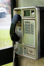 Public phone details in a box Stock Images