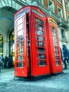Public phone this is located front of the apple store in covent garden hdr pictures Stock Images