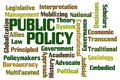 Public policy word cloud on white background Royalty Free Stock Photography