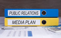Public Relations and Media Plan Royalty Free Stock Photo