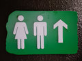 Public restrooms sign, both genders Royalty Free Stock Photo