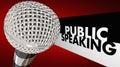 Public Speaking Microphone Speech Words Royalty Free Stock Photo