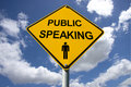 Public Speaking Sign Stock Images