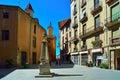 Public stone drinking fountain. Vic, Spain.