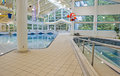 Public swimming pool and hot tub indoor Royalty Free Stock Images