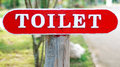 Public toilet sign Royalty Free Stock Photo