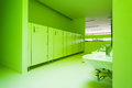 Public toilets new architecture green bathroom Stock Images