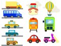 stock image of  Public transport like cars ships trucks