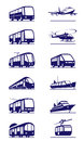 Public transportation icon set vector illustration Stock Images