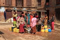 Public well of bhaktapur a kathmandu Royalty Free Stock Photos