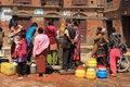 Public well of bhaktapur a kathmandu Royalty Free Stock Photography