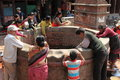 Public well of bhaktapur a kathmandu Royalty Free Stock Image