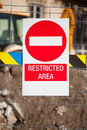 Public works. restricted area. Royalty Free Stock Photo