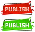 Publish sign Royalty Free Stock Photo