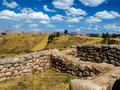 Puca pucara ruins near cusco peru Royalty Free Stock Photography