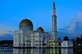 Puchong perdana mosque mosques in malaysia nthe floats on the lake it is a floating the reflection of the can be Stock Photo