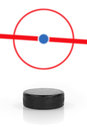 Puck and hockey field Stock Image