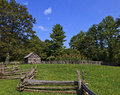 Puckett cabin old historic log in viriginia on the blue ridge parkway Royalty Free Stock Photos
