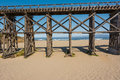 Pudding creek trestle fort bragg california a view of the in Royalty Free Stock Photography