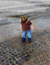 Puddle Jumping Royalty Free Stock Images