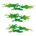 Puddle of toxic substance spill. Green chemical stain, plash, drop. Vector illustration isolated on the white background