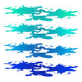 Puddle of water spill clipart. Blue stain, plash, drop. Vector illustration isolated on the white background Royalty Free Stock Photo