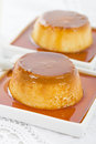 Pudim de leite brazilian flan made with milk and condensed milk topped with caramel sauce Stock Images