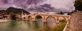 Puente konjic Foto de archivo libre de regalías