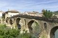Puente la reina bridge über dem arga fluss puente la reina navarra spanien Stockfotografie