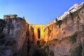 Puente Nuevo Bridge over the Tajo Gorge at dusk in Ronda, Spain Royalty Free Stock Photo