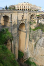 Puente nuevo bridge in ronda spain historic Stock Photography