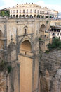 Puente Nuevo spans the canyon in Ronda, Spain Stock Images