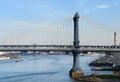 Puente y East River de Manhattan Imagen de archivo