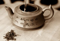 Puerh natural organic chineese tea traditional ceremony Stock Photography