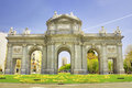 Puerta de alcala madrid spain famous spanish landmark Royalty Free Stock Photos