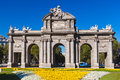 The puerta de alcala madrid spain at independence square Stock Image