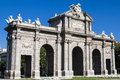 Puerta de alcala madrid spain th century center of Royalty Free Stock Images