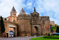 Puerta de bisagra nueva new bisagra gate guarding entrance to city toledo spain Royalty Free Stock Photo