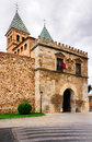 Puerta de bisagra nueva new bisagra gate guarding entrance to city toledo spain Royalty Free Stock Image